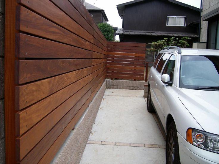 ブロック隠しフェンス