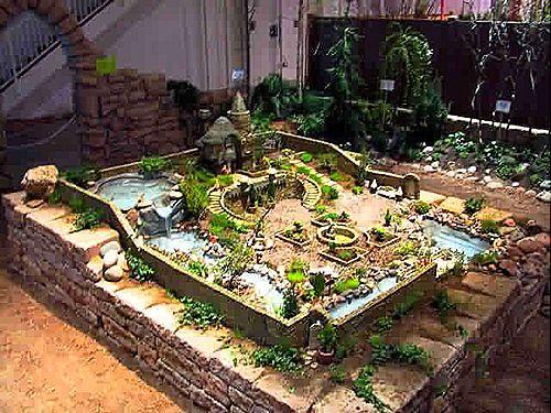 A Really Elaborate Fairy Garden