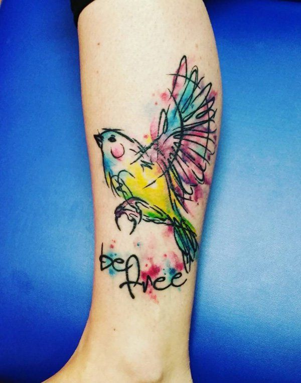 50+ Amazing Calf Tattoos | Calf tattoo, Quotes and Birds