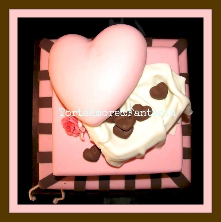 Chocolate & Rose Wedding Cake