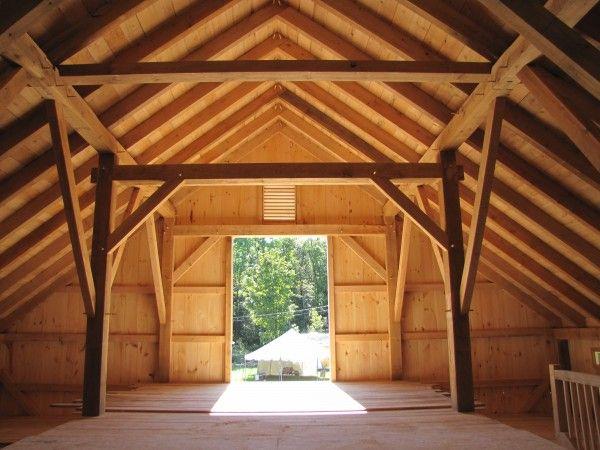 Timber Frame Timber Frame Barn In Landgrove Vermont