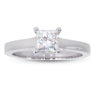 """Moi Moi Fine Jewellery   """"Katie 5.0"""" Ring 4-prong with flat band 5.0mm Square Brilliant Moissanite, 0.81  $880.00"""