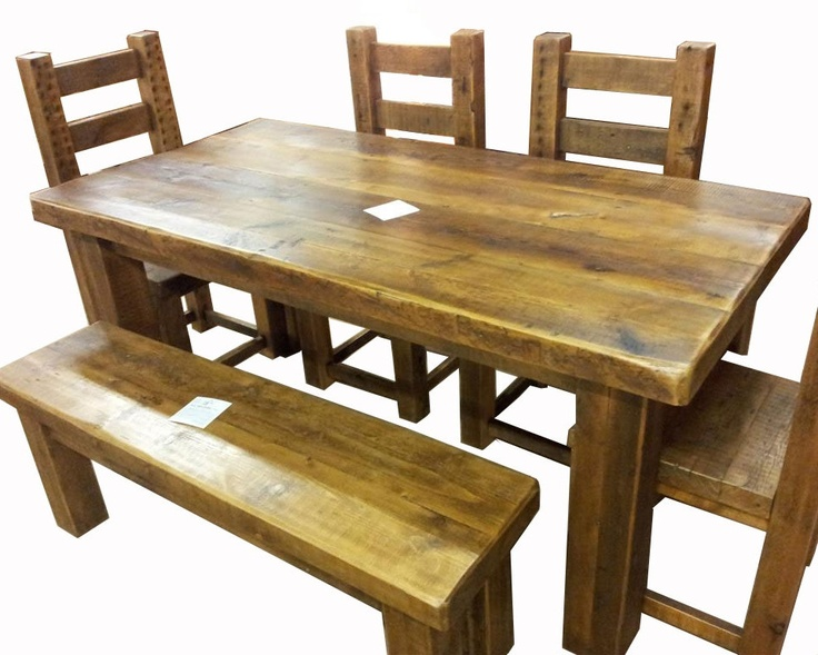 Best Reclaimed Wood Furniture Images On Pinterest Reclaimed - Solid reclaimed wood dining table