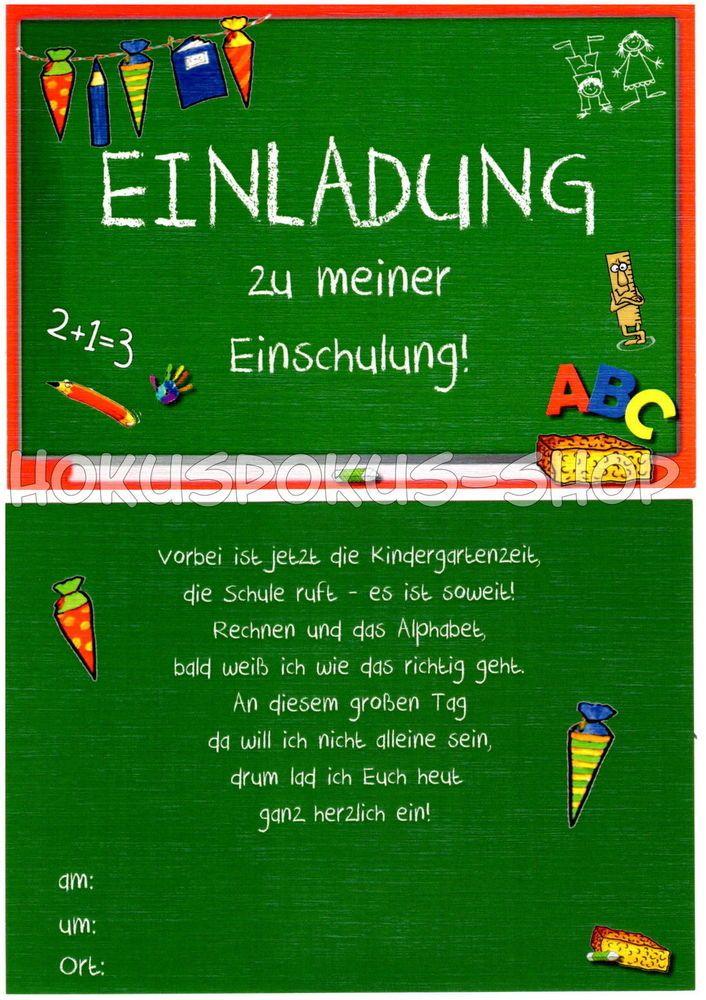 8 Einladungskarten Einschulung Schulanfang 1. Schultag Einladung In Möbel U0026  Wohnen, Feste U0026 Besondere
