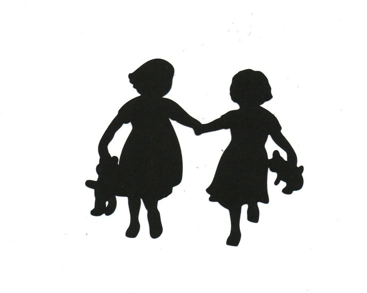 Sisters Child Silhouette