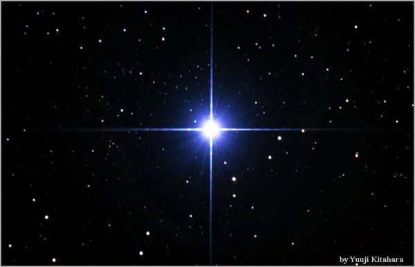 Glorious Sirius looks like one bright star but is actually a binary system (composed of 2 stars - Sirius A, the brighter and Sirius B, a faint white dwarf). It glitters like a silver-blue diamond.