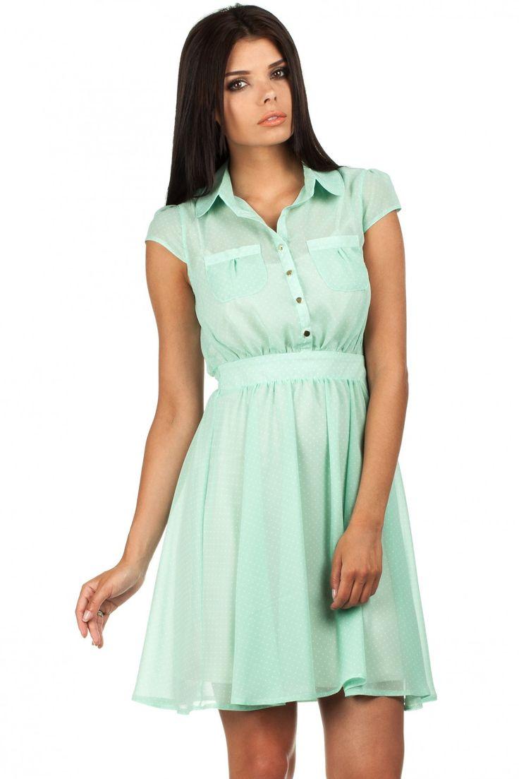 Sukienka Model MOE093 Mint #modadamska #sukienkiletnie #sukienka