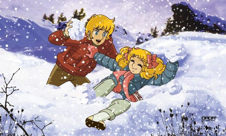 Candy y Anthony en la nieve