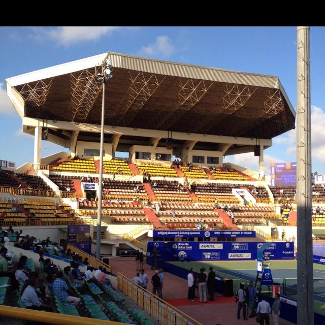 Chennai Open Tennis Stadium in Chennai India