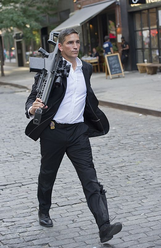 Person of Interest  Reese (Jim Caviezel, pictured), Shaw and Fusco must protect an unassuming office worker who stumbles into a dangerous conspiracy while moonlighting as a fake detective. Meanwhile, Finch travels to Hong Kong