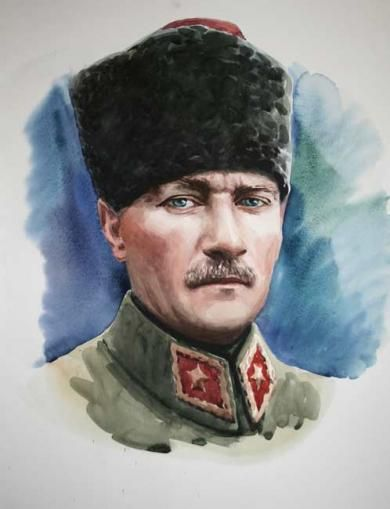 Atatürk - Eser Detay - Turkish Paintings