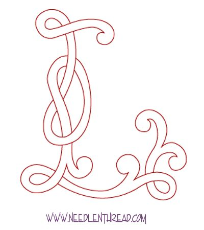 Monogram for Hand Embroidery: Celtic L