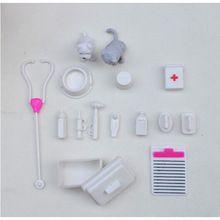 Ein Satz Puppe Zubehör Spielzeug medizinische kit Liefert Puppe Haustier spielzeug Für barbie puppe Baby Spielzeug weihnachtsgeschenk Puppe Haus dekoration(China (Mainland))