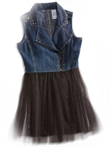 GUESS Kids Girls Big Girl Denim Vest with Tulle Skirt, MEDIUM STONE (10/12) GUESS Kids http://www.amazon.com/dp/B00KR677OO/ref=cm_sw_r_pi_dp_3mpbub1A41VG1