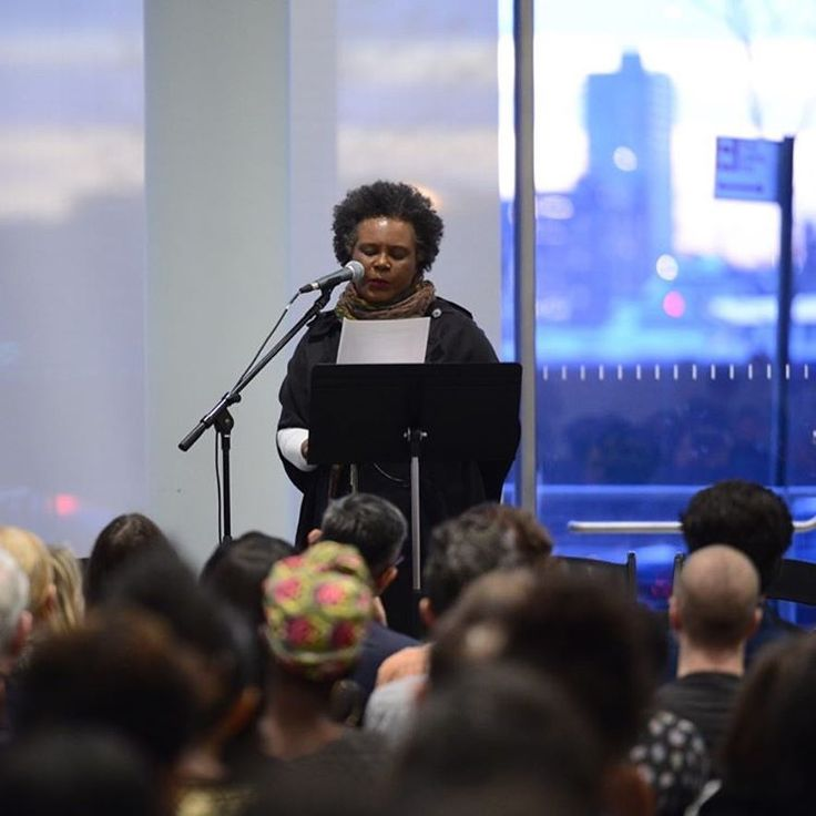 """#ClaudiaRankine introduces """"Perspectives on Race and Representation: An Evening with the Racial Imaginary Institute."""" Watch live now on the Whitney's Facebook page. *** Taking the debate around #DanaSchutz's painting, Open Casket, as a starting point, tonight's program looks at questions about the ethics of representation and the responsibilities of artists and museums. The Whitney is partnering with Claudia Rankine and the Racial Imaginary Institute to convene this conversation with…"""