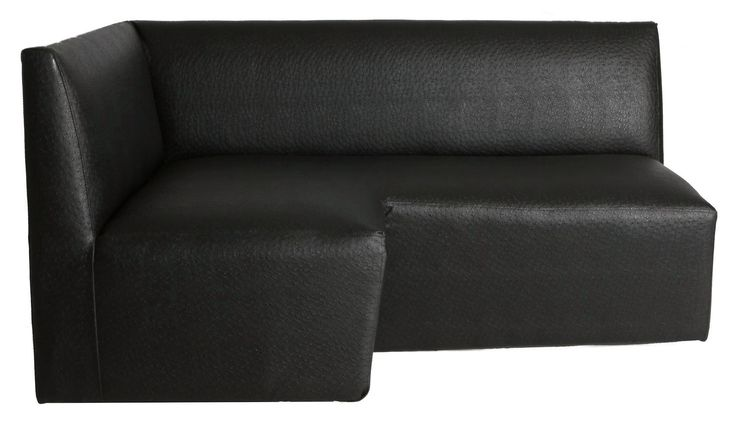 corner couch left black