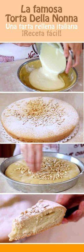 La famosa Torta Della Nonna, una tarta rellena italiana