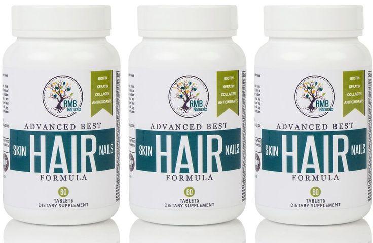 Biotin Hair Growth Vitamins 90 day Supply Thinning Hair Supplement #RMBNaturals