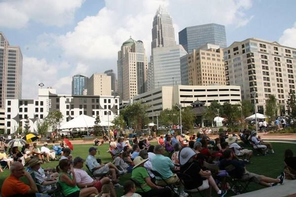 Romare Bearden Park Charlotte Panthers in the park before nfl games!
