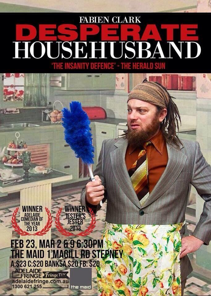Fabien Clark's new show 'Desperate Househusband' coming to Adelaide Fringe #adlfringe #adelaide