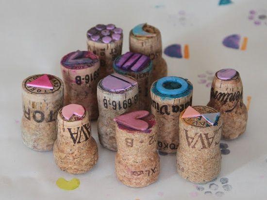 Giocabosco: creare con Gnomi e Fate: Timbri con tappi di sughero