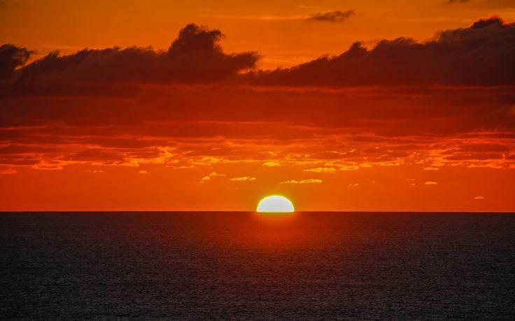 Sunset at EI Cotillo, Fuerteventura, Canary Islands, Espana_ Spain