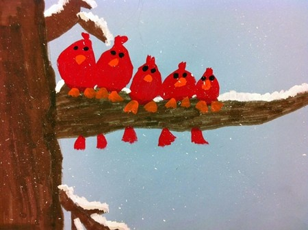 Artsonia Art Museum :: Artwork by Kaleigh358  - use this tree with crow silhouettes for halloween