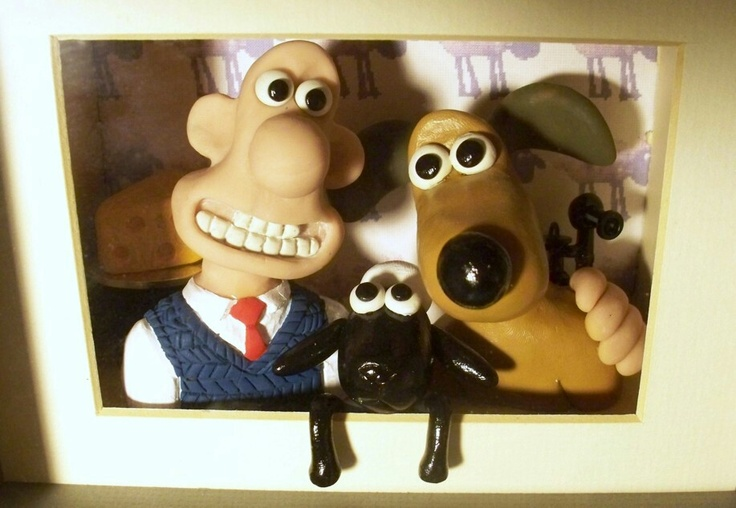 Wallace and Gromit sculpture I made for my wife for Xmas one year.