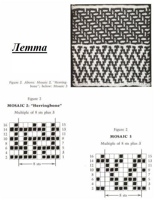 More mosaic stitches