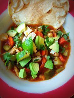 Caldo Tlalpeno~ Chicken,Chick Pea & Chipotlé Soup - Hispanic Kitchen