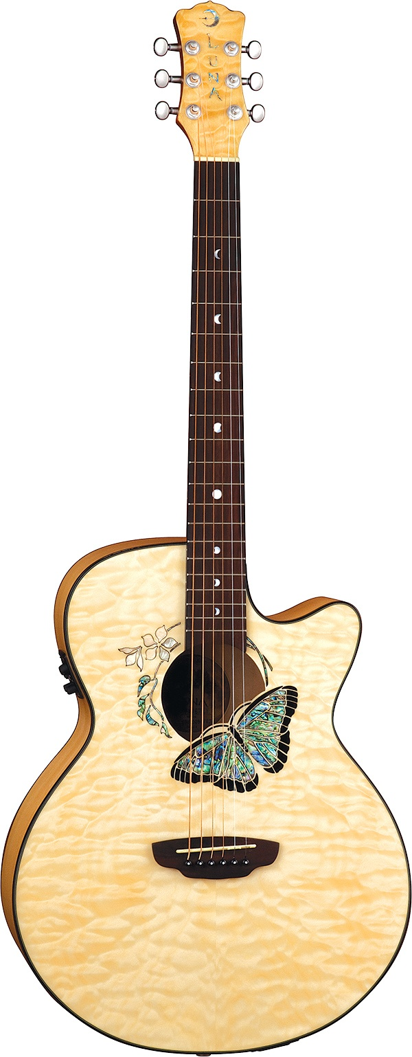 Luna Guitars - Fauna Butterfly...THIS is the guitar I am going to have soon. THIS is what I choose if I win the pinterest contest!