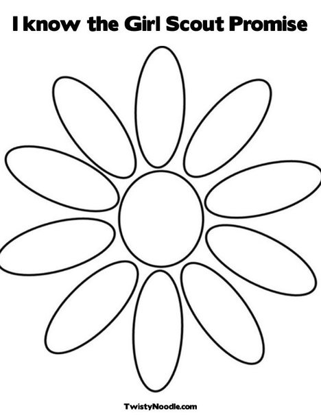 Daisy Petals Coloring Page