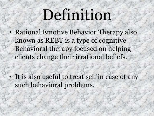 rational emotive behavior therapy - defined