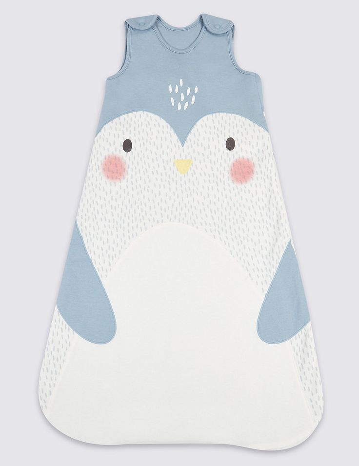 Pure Cotton 2.1 Tog Penguin Sleeping Bag