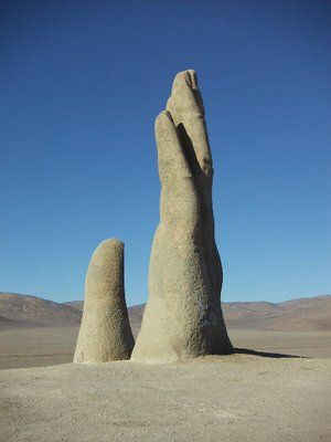 "San Pedro de Atacama. ""Mano del Desierto"" or the hand of the desert."