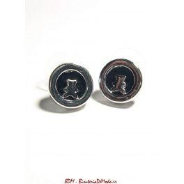 #Pendientes negros - #moda #bisuteria #complementos #accesoriosdemoda