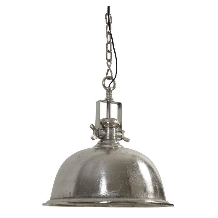 Hanglamp Kennedy is een mooie robuuste industriele hanglamp van het merk Light & Living. Een prachtige hanglamp industrie met een antiek nikkel. De twee vleugelmoeren zorgen ervoor dat deze hanglamp verstelbaar is. De hanglamp is geschikt voor energie zuinige lichtbronnen. De lamp heeft een hoogte van 50cm en een diameter van 50cm. De hanglamp Kennedy past in zowel een landelijk als een modern interieur.