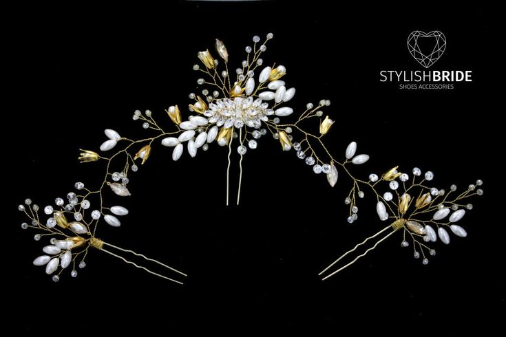Wedding Gold Hair Piece, Bridal Hair Comb, Gold Crystal Hair Accessories, Crystal Hair Comb, Bridal Crystal Hairpiece, Bridal Hair Comb by StylishBrideAccs on Etsy