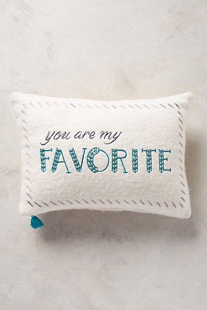 Merry Sentiments Pillow - anthropologie.com