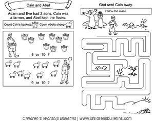 Sunday school activities about Cain and Abel