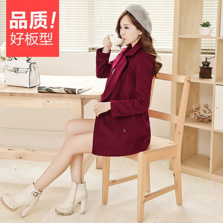 Cheap windbreakers, Buy Quality clothes ladder directly from China clothes german Suppliers:  Fall and winter clothes new Korean Women Slim woolen coat and long sections woolen coat women windbreaker        2015Ne