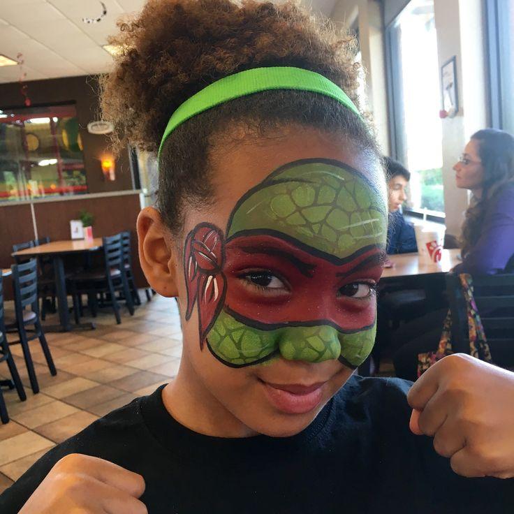 I Painted my daughter as a Ninja Turtle (Ninja Turtle Face Painting)