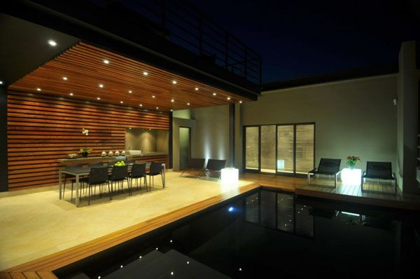 sleek. south african home outdoor entertainment area.