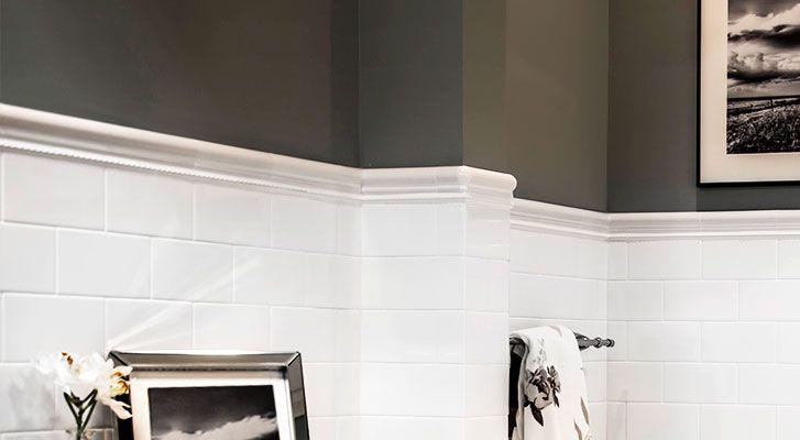 Image Result For Using Trim Molding Tile Instead Of Bullnose Tile Tile Trim Bullnose Tile Elderly Home