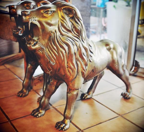 brass lions
