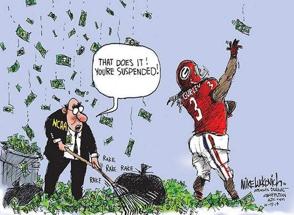 This Todd Gurley cartoon from the AJC perfectly sums up the NCAA with regards to players capitalizing off their own name.