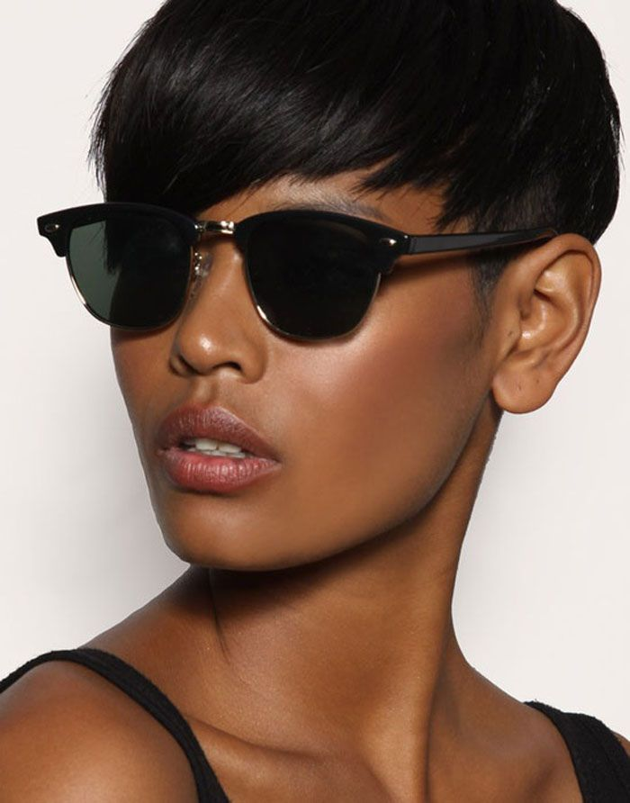 Natural Black Hairstyles For Short Hair ~ http://wowhairstyle.com/black-hairstyles-for-short-hair/