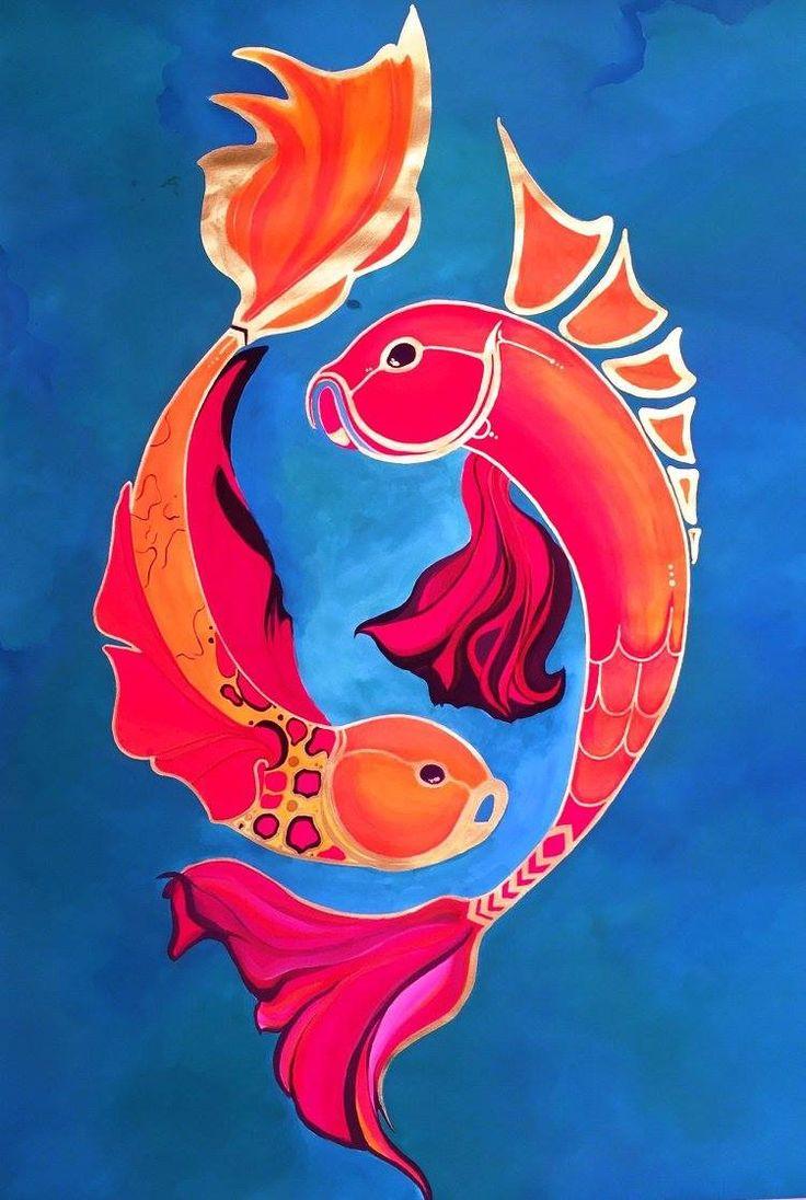 Royal Ocean  Acrylic on paper. 80/100 cm Facebook: @artasitotfelul Instagram: kittyshor