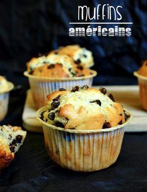 La recette des muffins américains aux pépites de chocolat : bien gonflés, moelleux à souhaite, léger et délicieux ! Le top !!