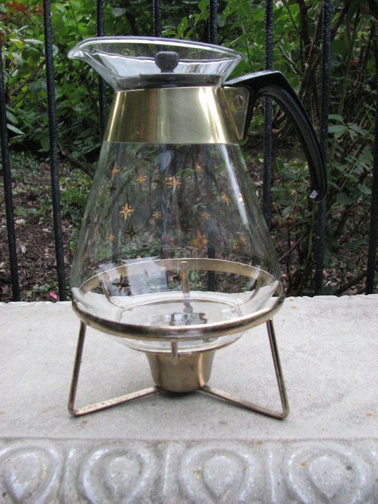 Mid Century Vintage Pyrex Atomic Starburst Glass Coffee